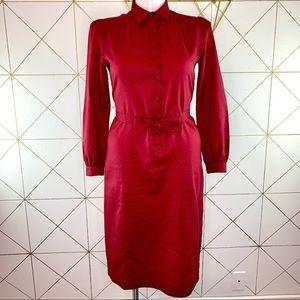 Vintage 1970s Schrader Sport Secretary Dress